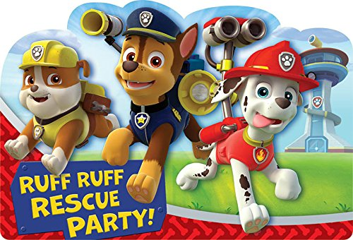 Paw Patrol Party Invites (Paw Patrol Invitation Postcard, Party)