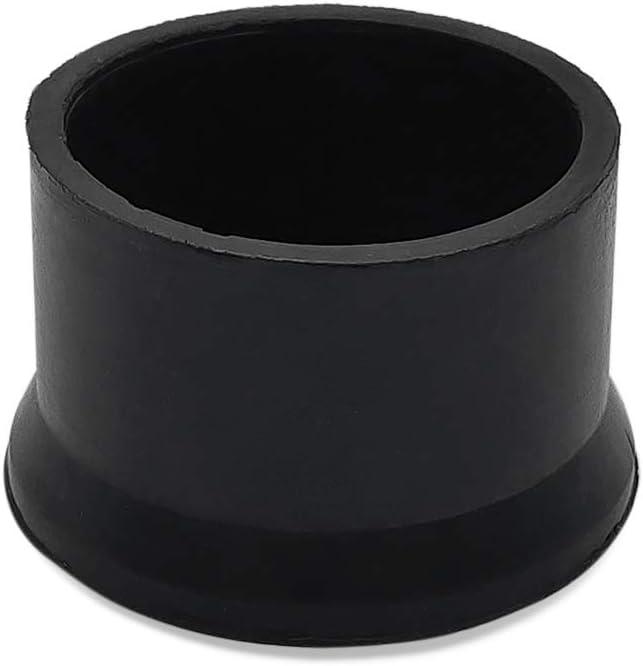"Flyshop Furniture Table Covers Non-Slip Rubber Leg Tips Chair Leg Caps Floor Protector Round Black 50mm 2"" Inner Dia 4 PCS"