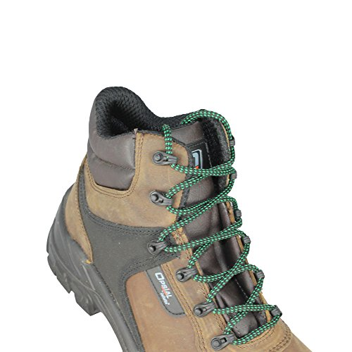 Opsial Step Roc Zero Perforation S3 SRC Sicherheitsschuhe Arbeitsschuhe Trekkingschuhe hoch Braun Braun