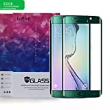 S6 Edge Screen Protector, InRich 0.2mm Premium 9H Full Cover Edge Tempered Glass Screen Protector Film Guard for Samsung Galaxy S6 Edge 5.1'' - Green