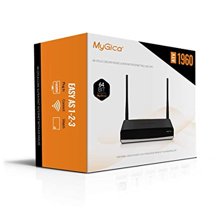 MyGica ATV1960 Amlogic S912 Octa Core Android 7.1 TV Box Streaming Media Player with Voice Remote