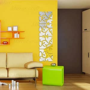 Diy Removable Mirror Wall Sticker Acrylic Wall Decals