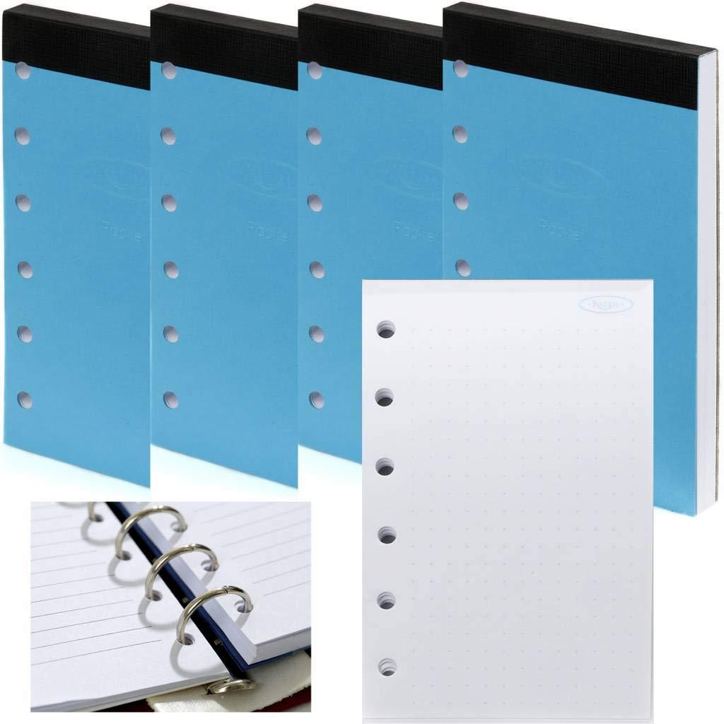 Confezione da 5 17 x 9,5 cm Kalpa Set di 5 fogli di carta standard per organizzatore compatibili con Filofax