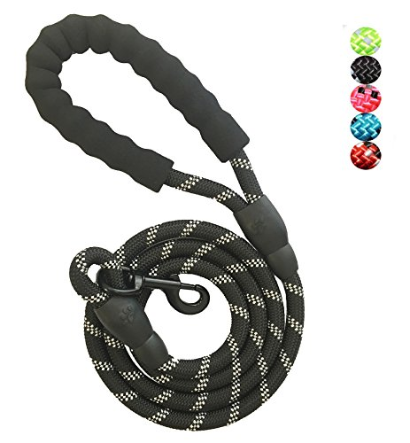 Dog Leash Rope with Comfortable Padded Handle Training Lead for Medium and Large Breeds Dogs - Heavy Duty 5ft Long (Strong Rope Handle)