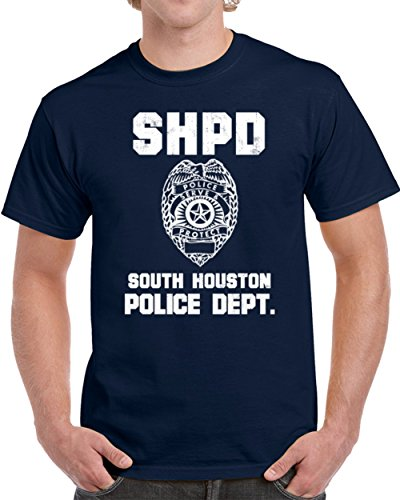 South Houston Police Department Dept SHPD officer Inspired Custom City Unisex T-shirt XL (Police Novelty T-shirts)