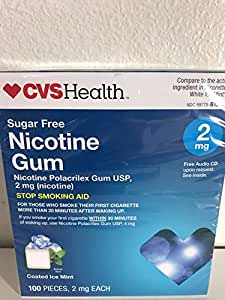 cvs health sugar free nicotine gum 100 pieces 2 mg coated ice mint everything else. Black Bedroom Furniture Sets. Home Design Ideas