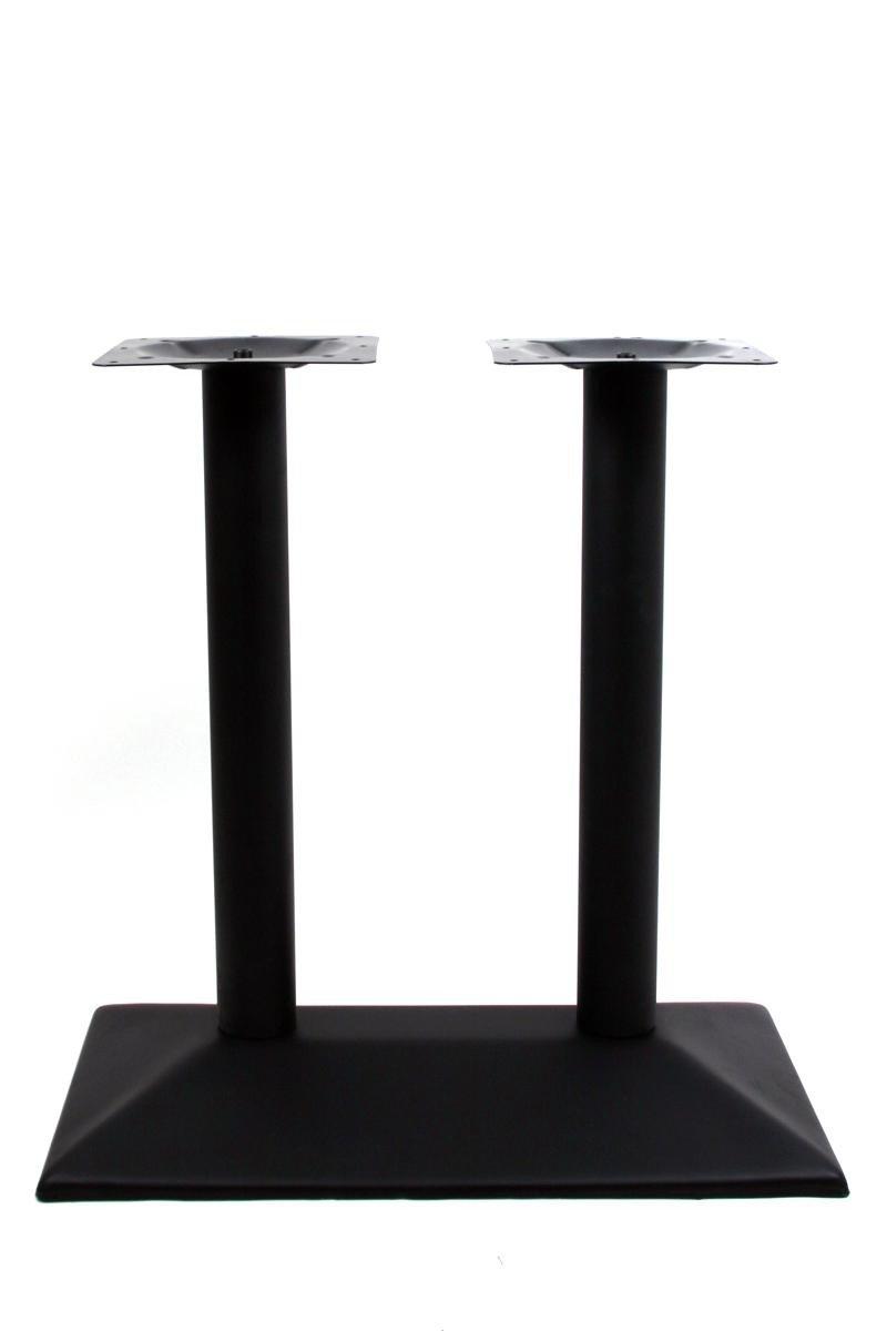 Tischfu/ß doppel Schwarzes Gestell rechteckiger Fu/ß,Bremen mit verstellbaren Bodengleitern Tischgestell 72 cm