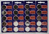 Lot of 500 Sony CR2032 3 Volt Lithium Coin Battery On Tear Strip - Bulk Pack
