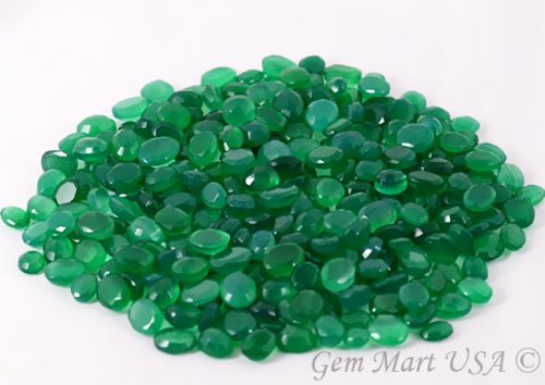 Wholesale 100 + Carats mix Green Onyx GEM MART USA, Loose Faceted Stones, Green Onyx Mix, AAAmazing Cut and Quality, Mix Gems, Mixed Gemstone, Gem Mart Usa Stones Lot by GemMartUSA Loose Gemstone (Image #1)
