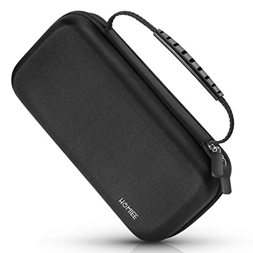 Portable Hard EVA Case, HOMIEE Protective Hard Shell Travel Carrying Bag with Handle and Mesh Pocket for Hard Drive Enclosure, Power Bank, Cell Phone, Headset, USB Cable and Electronic - Handle Shell