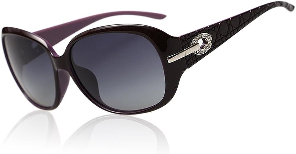 Duco Klassische Damen Sonnenbrille Polarisiert Modische 100% UV-Schutz 6214 (Lila): Amazon.de: Bekleidung - Marken Sonnenbrillen Damen
