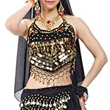 BellyLady Tribal Belly Dance Halter Banadge Bra Top With Pad, For Christmas