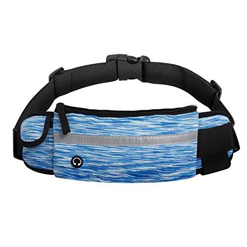 Waist Belt Running Belt-Sports Belt Waterproof&Lightweight-Adjustable All Sports,6-Inch Cellphone,Fanny Pack for Women&Men Hands Free WORKOUT