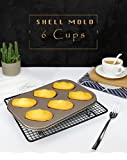 Madeleine Pan - Nonstick Madeleine Mold Greg Boom 6 Cups Stainless Steel for Baking Cookies Cake Chocolate - Madeleine Tray