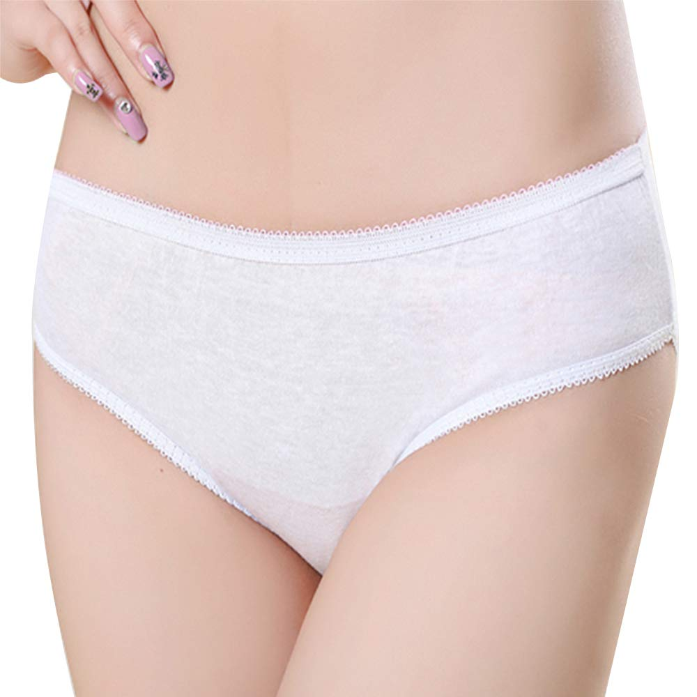 Super Soft Women's Disposable Cotton Briefs - Premium Quality Comfortable Knickers Panties Underwear, Ideal for Hospital Maternity Pregnancy Post Partum Travel Massage, Reusable, Medium(5 Pieces) WoodyKnows