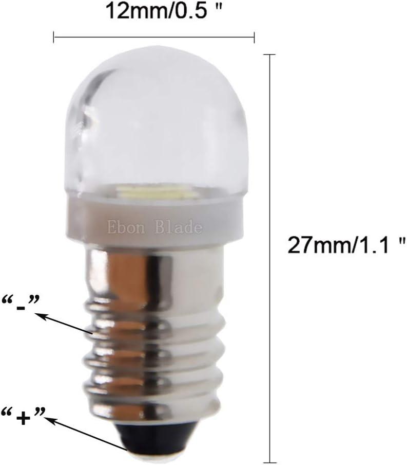 LED Screw Bulb for Socket E10 3,5-4,5 Volt-Cool White-NEW