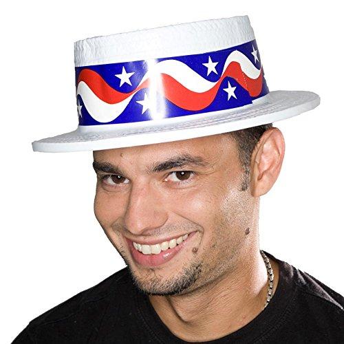 (Deluxe Patriotic Skimmer Hat)