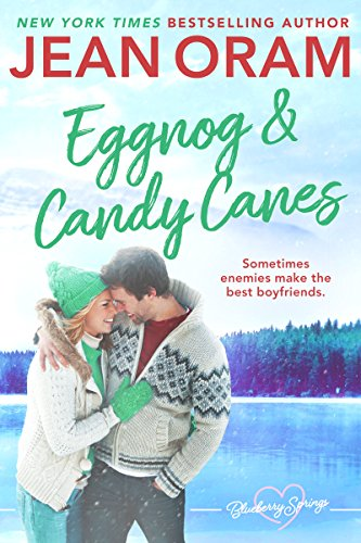 Eggnog and Candy Canes: A Blueberry Springs Sweet Romance Christmas - Lemans Cover