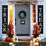 LUTER Halloween Decorations Outdoor Trick or Treat Banner Halloween Party Supplies Halloween Decor for Home Office Door- Ready to Hang(3-Pc Set)