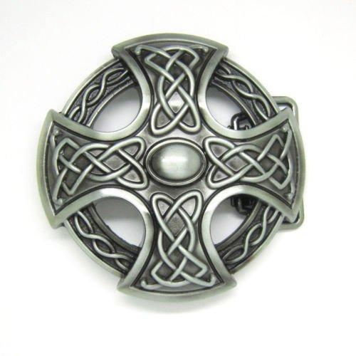 Weaver Cross Shield Vintage Horseman Prayer Celtic Iron Cross Skull Cowboy Lot Leather Belt Buckle