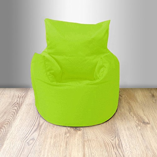 Ready Steady Bed Children's 100% Cotton Twill Pre-Filled Bean Chair, Lime Green