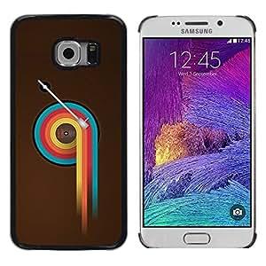 LECELL -- Funda protectora / Cubierta / Piel For Samsung Galaxy S6 EDGE SM-G925 -- Colorful Vinyl Retro --
