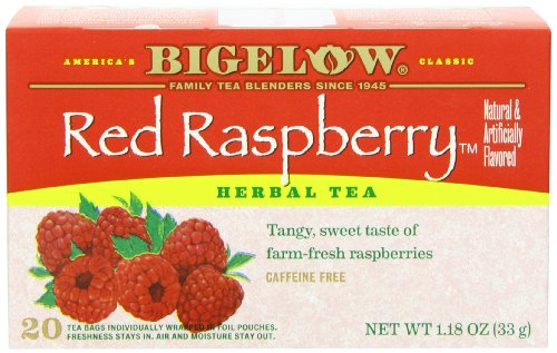 Red Raspberry Herb (Bigelow Red Raspberry Herbal Tea, 20-Count Boxes, 1.18 oz, (Pack of 6))