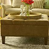 Big Square Ottoman Upholstered Tray Entryway Bench Upholstered Cushion Living Room Bedroom Ottoman Furniture Unique Frame Home Indoor Step Stool & Ebook by Easy 2 Find.