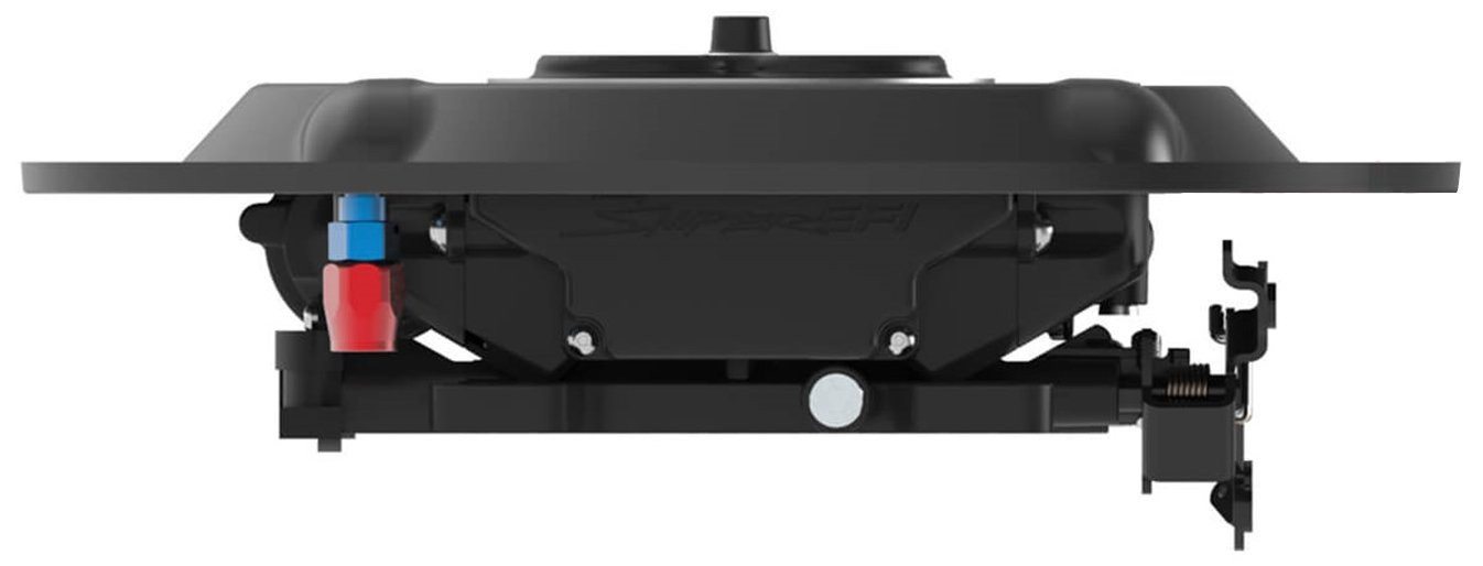 Holley 120-511 Air Cleaner Base 1 in. Drop Base Plate Black For Use w/14 in. Diameter Air Cleaners Air Cleaner Base