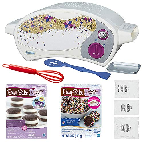 - Easy Bake Oven Star Edition + Chocolate Truffle Refill Mix + Mini Whoopie Pies Refill Mix + Mini Whisk.