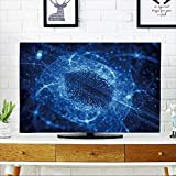 PRUNUS Television Protector Blue Glowing Particles in Space,Depth of Field,Computer generated Abstract Background Television Protector W30 x H50 INCH/TV 52''