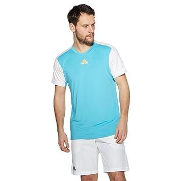 Adidas Melbourne Mens Camiseta de tenis Casual manga corta azul oscuro: Amazon.es: Deportes y aire libre