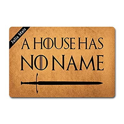 Julia Mats Welcome Mat Prank Gift Kitchen Door mat (23.6 in X 15.7 in) Fabric Top with a Anti-Slip Rubber Back for The Entrance Way Indoor Rug