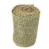 Universal Fabric Jute Burlap Ribbon Roll, 4-Inch by 10-Yards (30 Feet), Natural