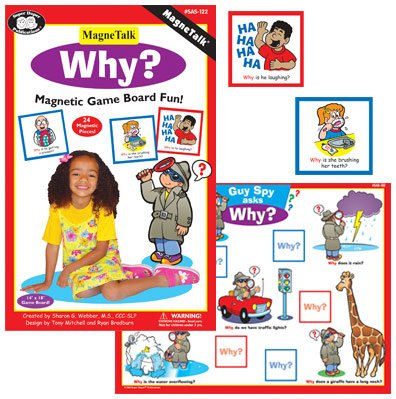 Magnetic ''Why?'' Board Game - Super Duper Educational Learning Toy for Kids by Super Duper Publications