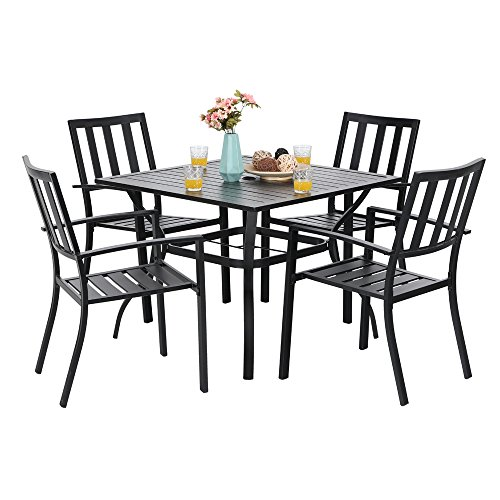 37 Piece Set - PHI VILLA 5 Piece Metal Outdoor Indoor 37