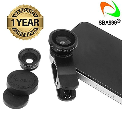 SBA999Universal 3In1 Mobile Phone Camera Lens Kit With Fish Eye Lens Compatible with Nokia, Redmi, Samsung, Apple Device, AllSmartphones