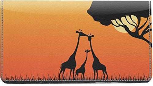 Giraffe Silhouettes Leather Checkbook Cover ()