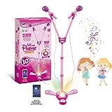 Kids Karaoke Machine,FillADream Kids Microphone Music Toy Play Set with 2 Microphones