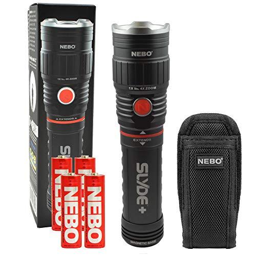 NEBO SLYDE+ LED Flashlight Worklight 300 Lumen, Plus a SLYDE Holster ()