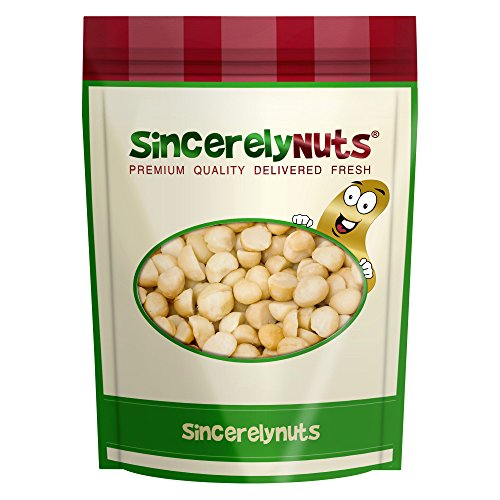Sincerely Nuts Raw Macadamia Nuts Unsalted - One Lb. Bag – Uncompromised Natural Taste - Amazingly Nutritious - Freshly Sealed, Kosher Macadamia Nut