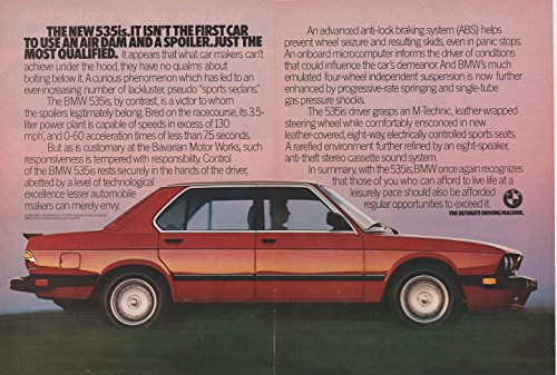 - 1987 BMW 535is SEDAN COLOR AD