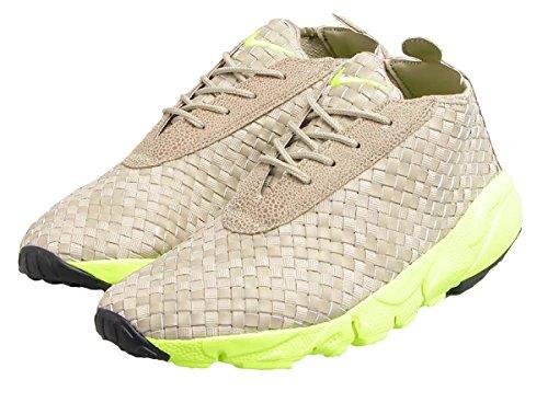 Nike Mens Luft Footscape Öken Chukka Maraton Löparskor Gymnastik 652822-200 Grå / Grön