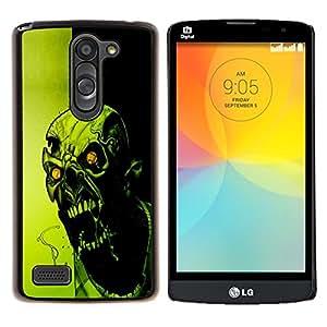 Caucho caso de Shell duro de la cubierta de accesorios de protección BY RAYDREAMMM - LG L Bello L Prime - Loco Evil Zombie