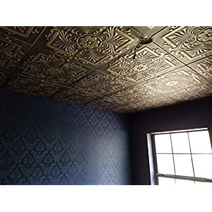 A la Maison Ceilings 1594 Victorian – Styrofoam Ceiling Tile (Package of 8 Tiles), Plain White