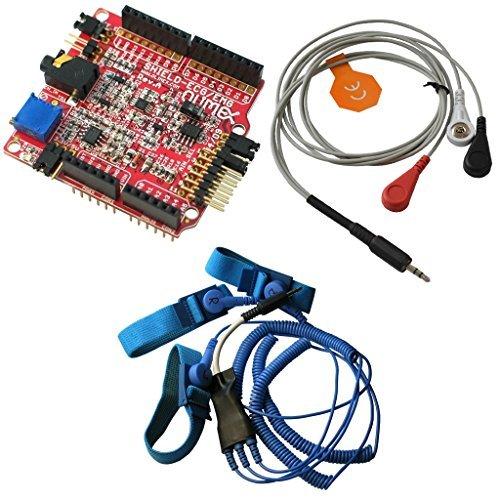 - SHIELD-EKG-EMG + SHIELD-EKG-EMG-PA + SHIELD-EKG-EMG-PRO EKG EKG arduino shield kit including leads