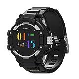 JIANFCR Reloj GPS, deportes al aire libre reloj inteligente con podómetro, altímetro, barómetro, brújula, termómetro, monitor de frecuencia cardíaca, monitor de sueño para hombres y mujeres, rastreador de actividad para Android y iOS