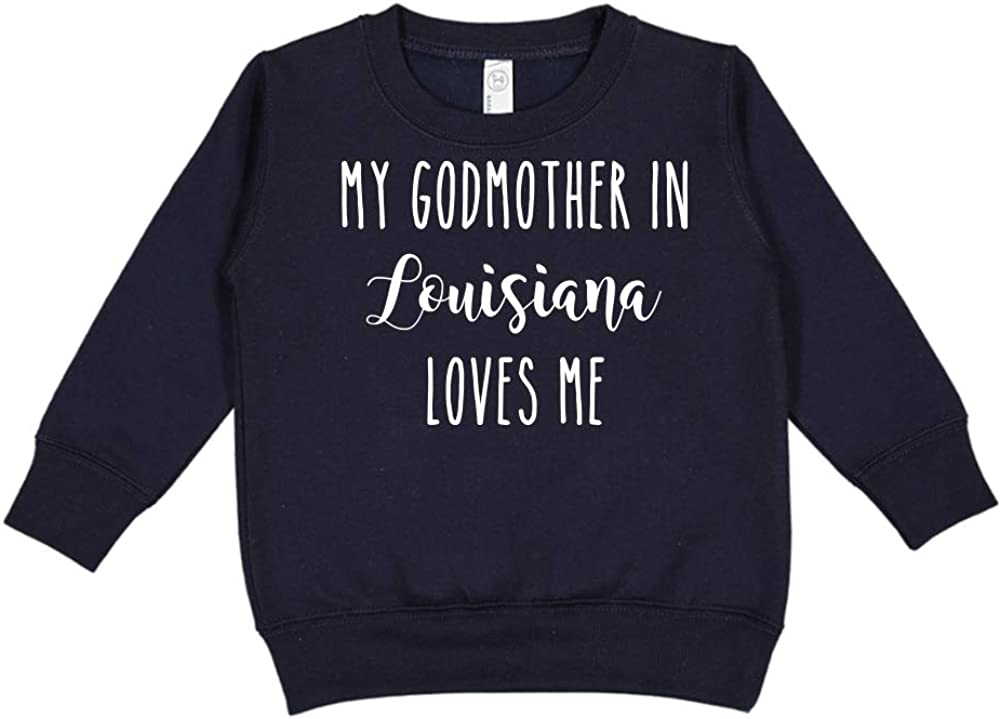 Toddler//Kids Sweatshirt My Godmother in Louisiana Loves Me