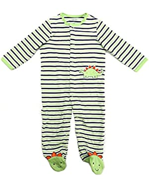 Baby Boy's Footed Romper, 9 Month Green Multi