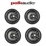 Polk Audio V80 High Performance Vanishing In-Ceiling Loudspeakers (4 Pack)